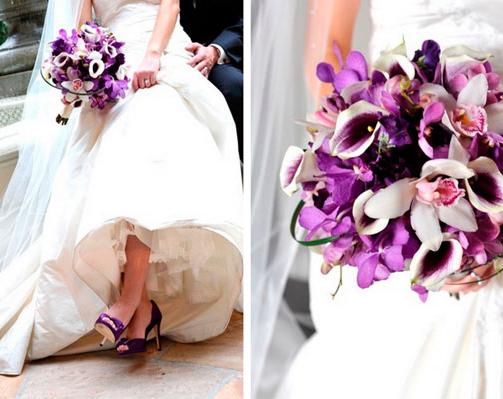 Sapatos de noivas coloridos
