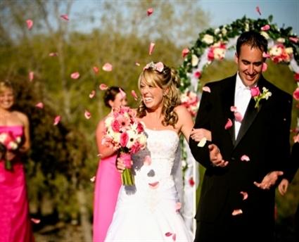 Alegria no casamento
