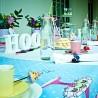 Chá de cozinha divertido e colorido