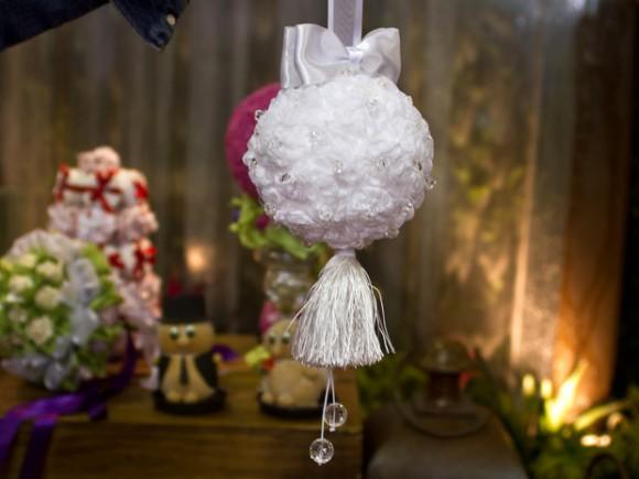 pomander em tecido struture na expo noivas riocentro