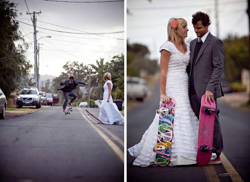 casamento de skate