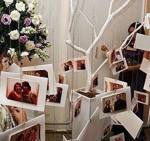 árvore de fotos casamentos