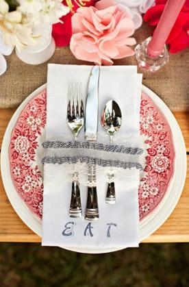 Prendedor guardanapo casamentos
