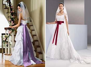 vestidos coloridos de noivas