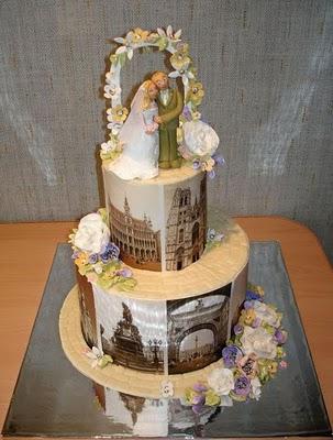 bolo casamento temático