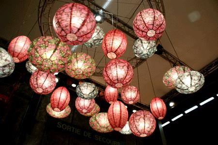 Luminárias japonesas para casamentos
