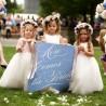 Aí vem a noiva: as daminhas e pajens sinalizando a sua entrada