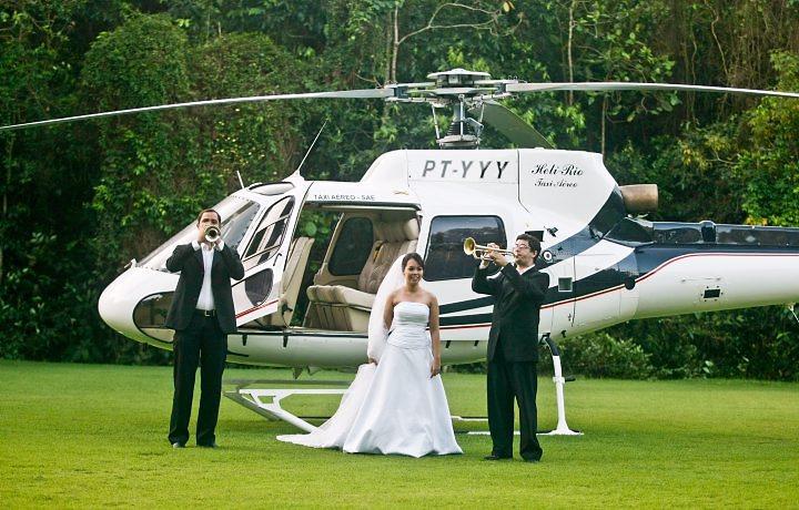 noiva de helicoptero