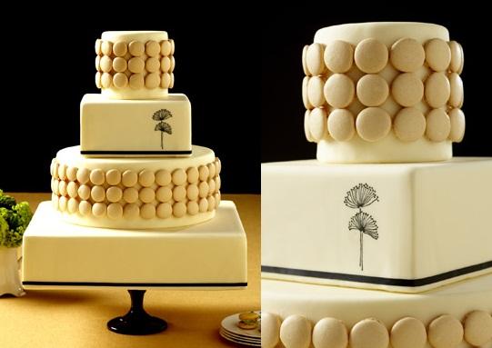 bolo de casamento com macarons