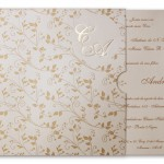 convite casamento com flores