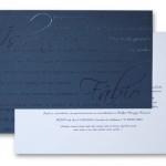 Convite sem formalidades. Pode ser feito em qualquer cor.